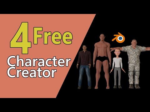 4 Free Character Creator for Blender   Character Modeling & Rigging without Skill   Being Animator