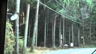 【西日本JRバス】 高雄京北線 栗尾峠 前面展望 (栗尾町付近→細野)