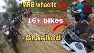 I got CRASHED while saving other bike||Brake fail||Off-Road||Group ride ||Motovlogs