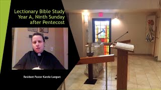 07 30 20 Lectionary Bible Study