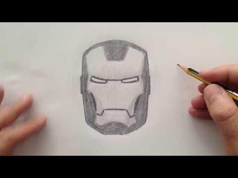 Cómo Dibujar El Casco De Iron Man Youtube