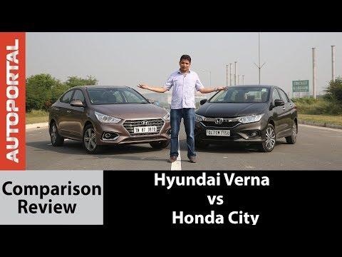 Hyundai Verna vs Honda City Comparison Test Drive Review - Autoportal