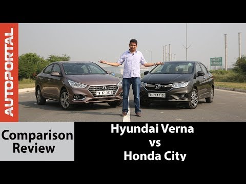 Hyundai Verna vs Honda City Comparison Test Drive Review Autoportal