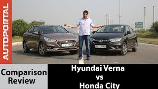 Hyundai Verna vs Honda City Comparison Test Drive Review - Autoportal