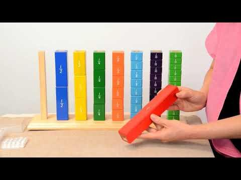 Montessori Fraction Exercises - Rectangular Model [MFE #63]