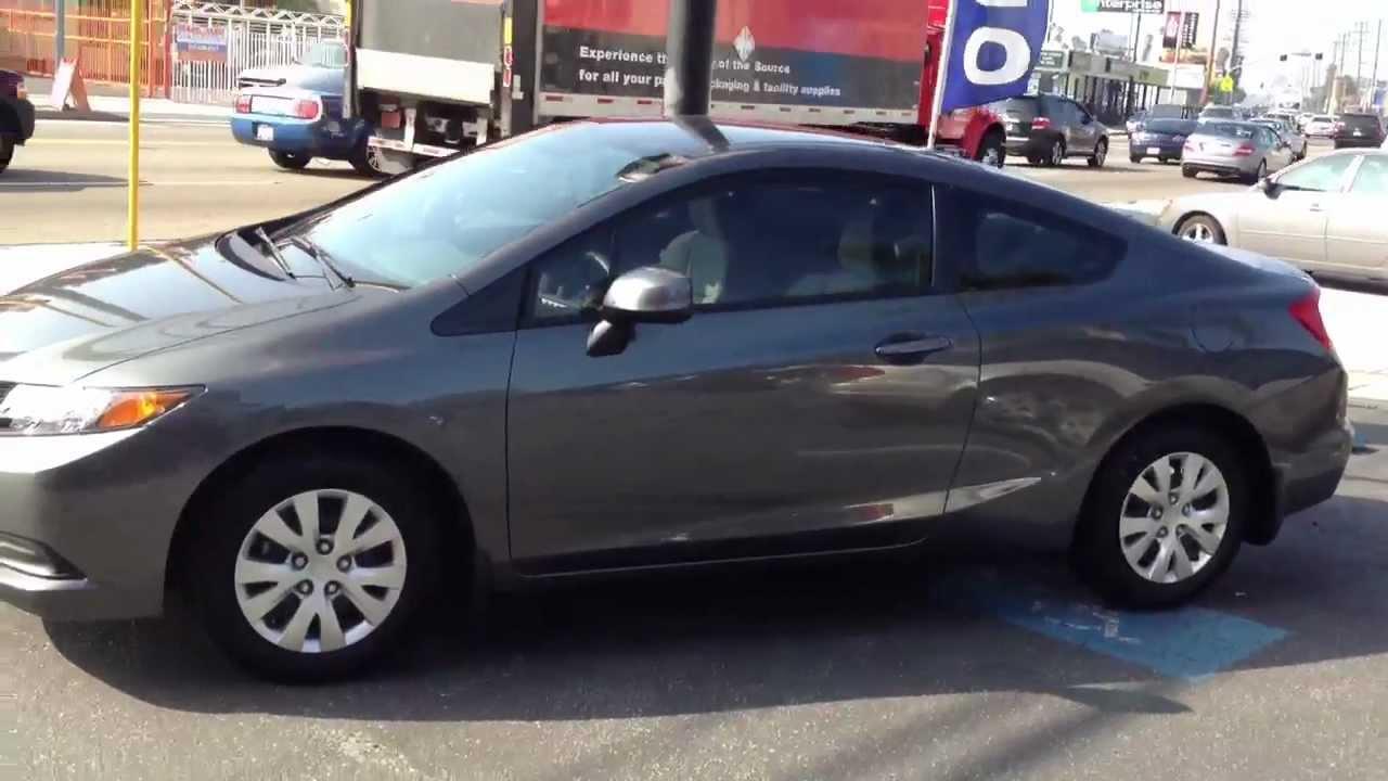 Santa Monica Honda >> 2012 Honda Civic Window tint Job AL & ED'S Santa Monica, CA - YouTube