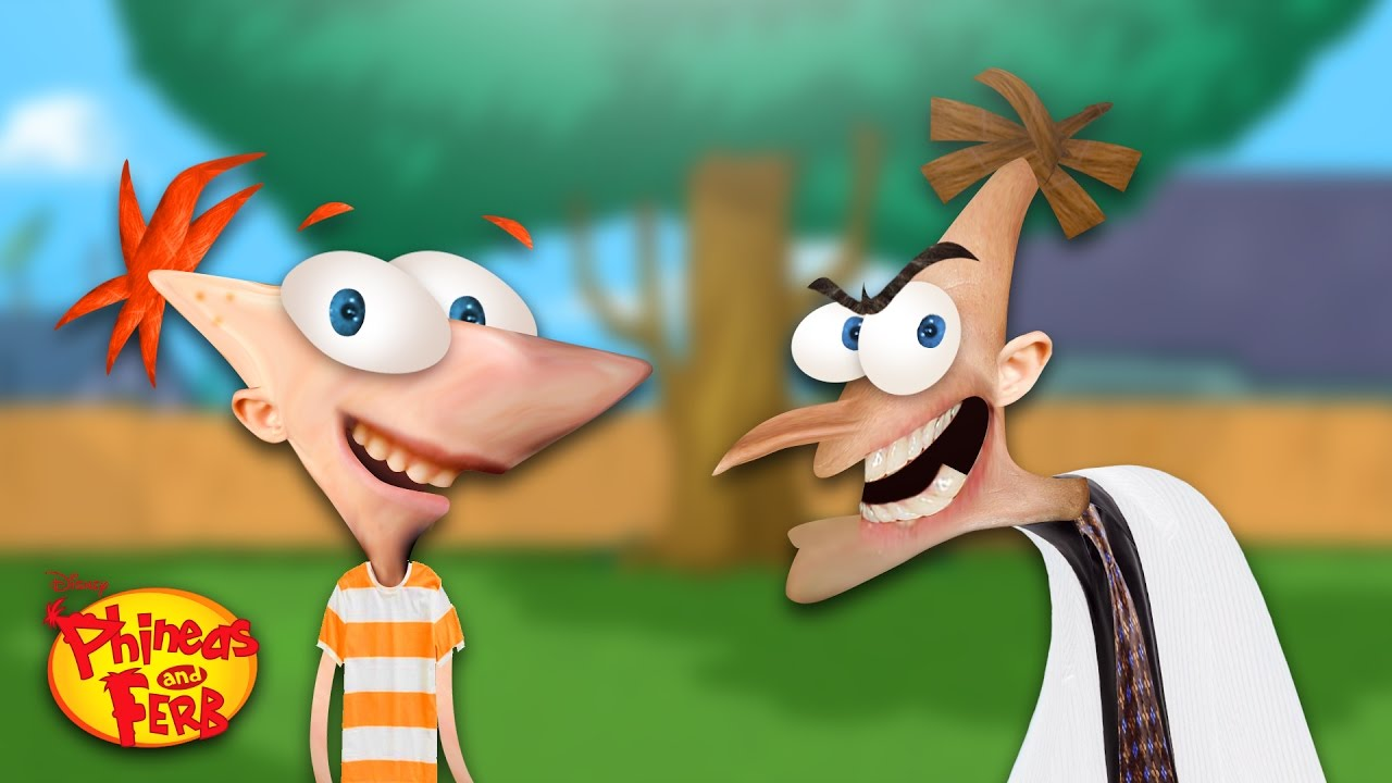 Phineas And Ferb In Real Life Photoshopping Cartoon Characters