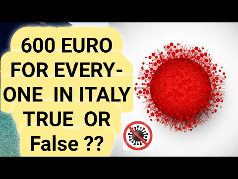 How To Get 600 Euro From Your Italian Government(coronavirus)