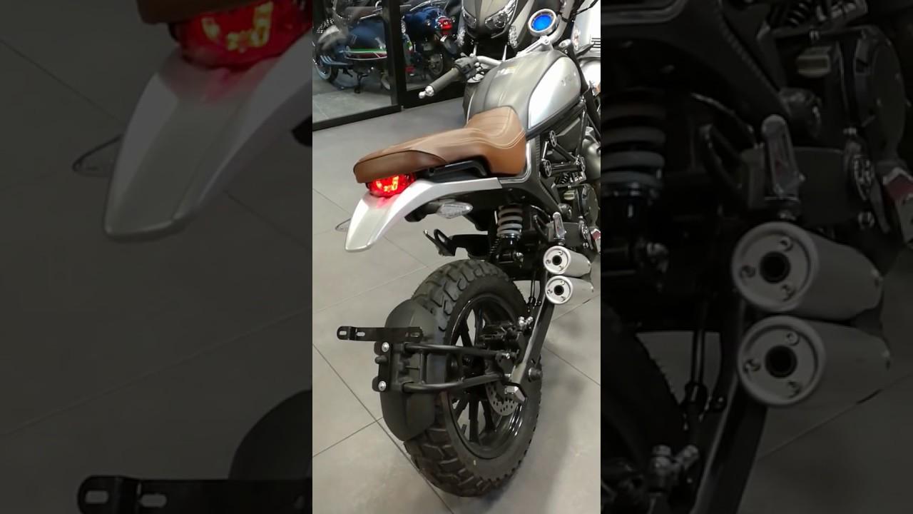 Yamasaki Scrambler 50cc 125cc Full Led Double Exaust Fait Mieux Que La Masai Scambler 125