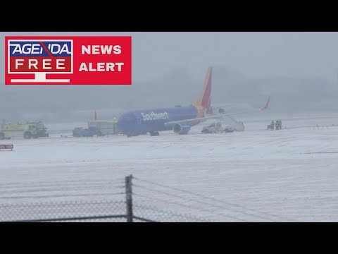 Omaha Airport Closed After Plane Slides Off Runway - LIVE COVERAGE