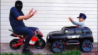 Funny Baby Unboxing Police Car Ride On Power Wheel Police Car for Kids | Cool boys