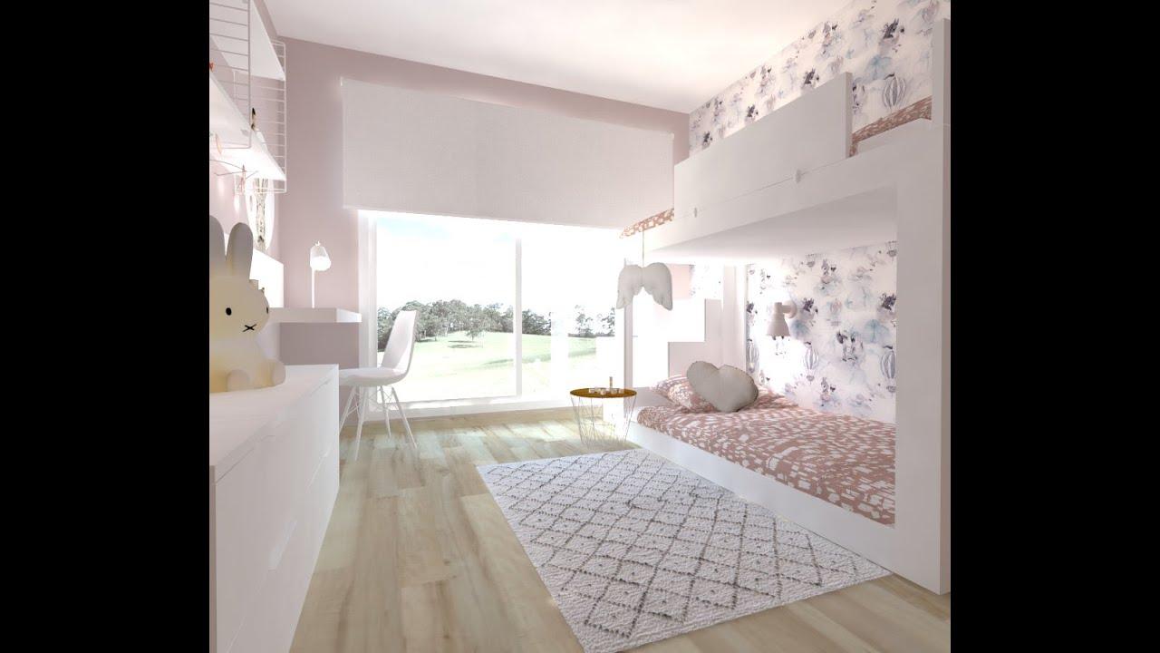 Decoraci n online habitaci n infantil rosa para ni a for Muebles habitacion infantil nina