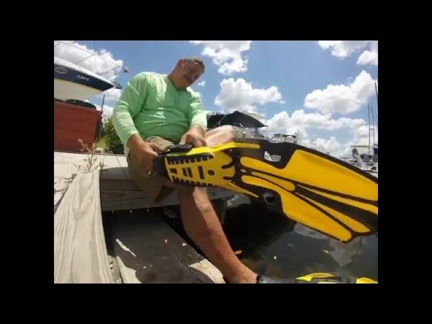 Changing Out The Zincs On The Boat In The Water.