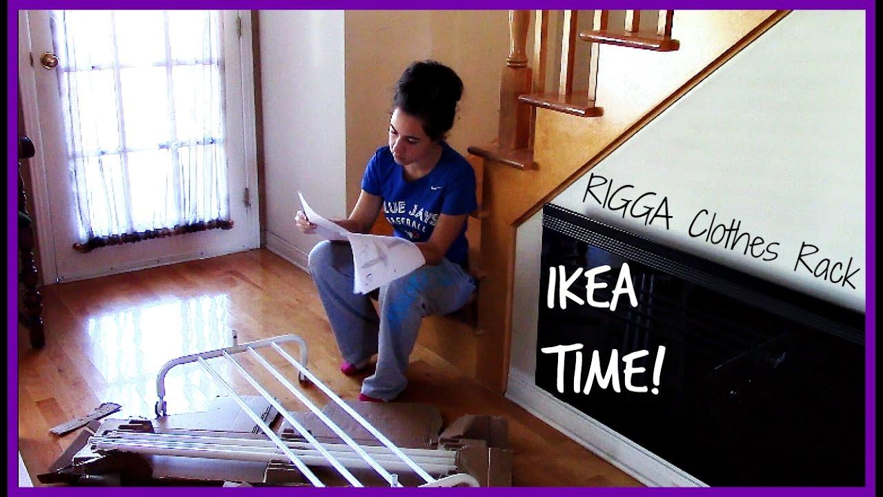 build ikea furniture with me rigga clothes rack - Clothes Rack Ikea