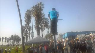 Epic!!!tricks on 10ft pogo stick and pogo BACKFLIP