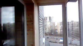 Внутренняя отделка балкона евро вагонкой.(Внутренняя отделка балкона евро вагонкой. http://oknasaratova64.ru/lodjii.html., 2016-03-24T11:04:58.000Z)