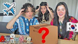 فتحنا اكبر صندوق حلويات كورية حارة🔥 📦  لاول مرة اسو صارت تبكي