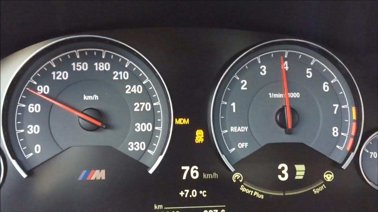 BMW M4 431 HP Acceleration 100 - 200 8.5 sec - YouTube