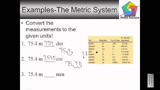 5th Grade The Metric System