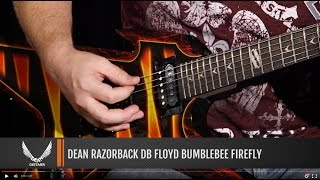 Dean Guitars Razorback DB Floyd Bumblebee Firefly