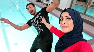 SHE PUSHED ME IN THE SWIMMING POOL (insane PRANK!!)