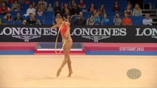 Aleksandra SOLDATOVA (RUS) 2015 Rhythmic Worlds Stuttgart - Qualifications Hoop