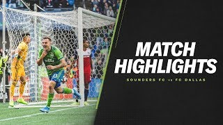 HIGHLIGHTS: Seattle Sounders FC vs. FC Dallas | October 19, 2019