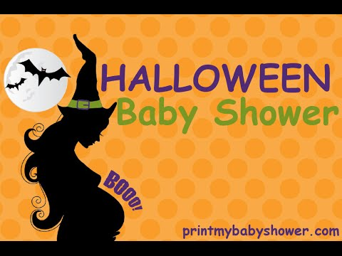 halloween baby shower invitations, games  decorations, Baby shower