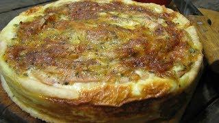 Яблочный киш с сырной заливкой | Пирог киш с яблоками | Яблочный пирог рецепт | Apple pie recipe