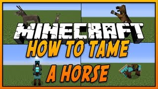 ★ How To Tame and Ride a Horse in Minecraft (Xbox 360/PS3) (Minecraft 1.8) - 2015 [HD]