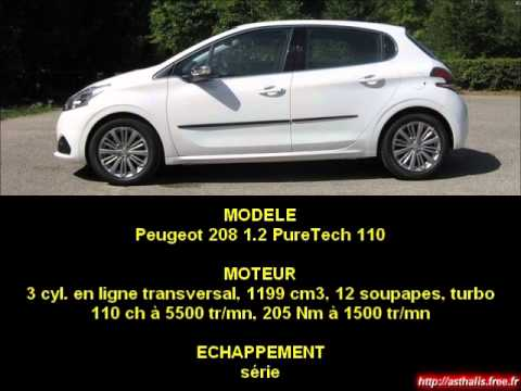 sonorit moteur peugeot 208 1 2 puretech 110 youtube. Black Bedroom Furniture Sets. Home Design Ideas