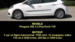 Sonorité moteur : Peugeot 208 1.2 PureTech 110
