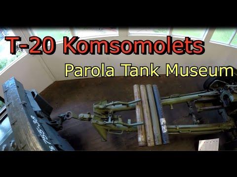 T-20 Komsomolets Artillery Tractor-Russian Armoured Parola Tank Museum