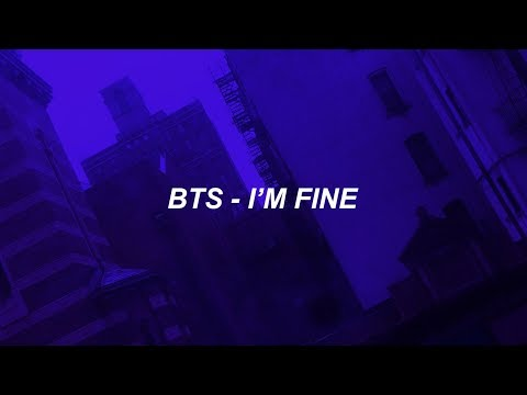BTS (방탄소년단) 'I'm Fine' Easy Lyrics