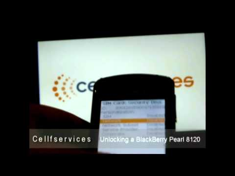 How to Unlock a BlackBerry Pearl 8120 (AT&T, T-mobile, Rogers, Orange and Any Worldwide Carrier)