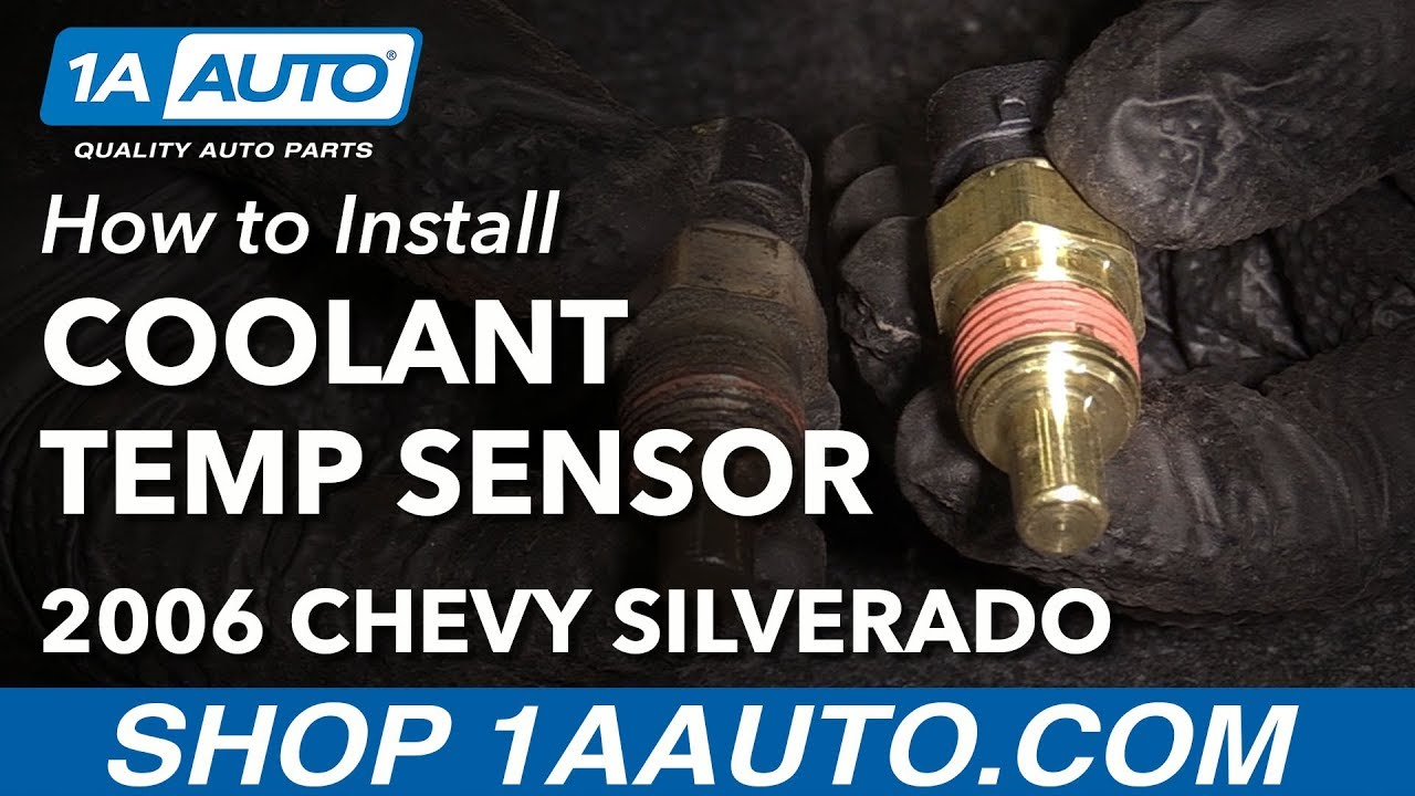how to install replace coolant temperature sensor 2002 06 chevy silverado 1500 v6 4 3l [ 1280 x 720 Pixel ]
