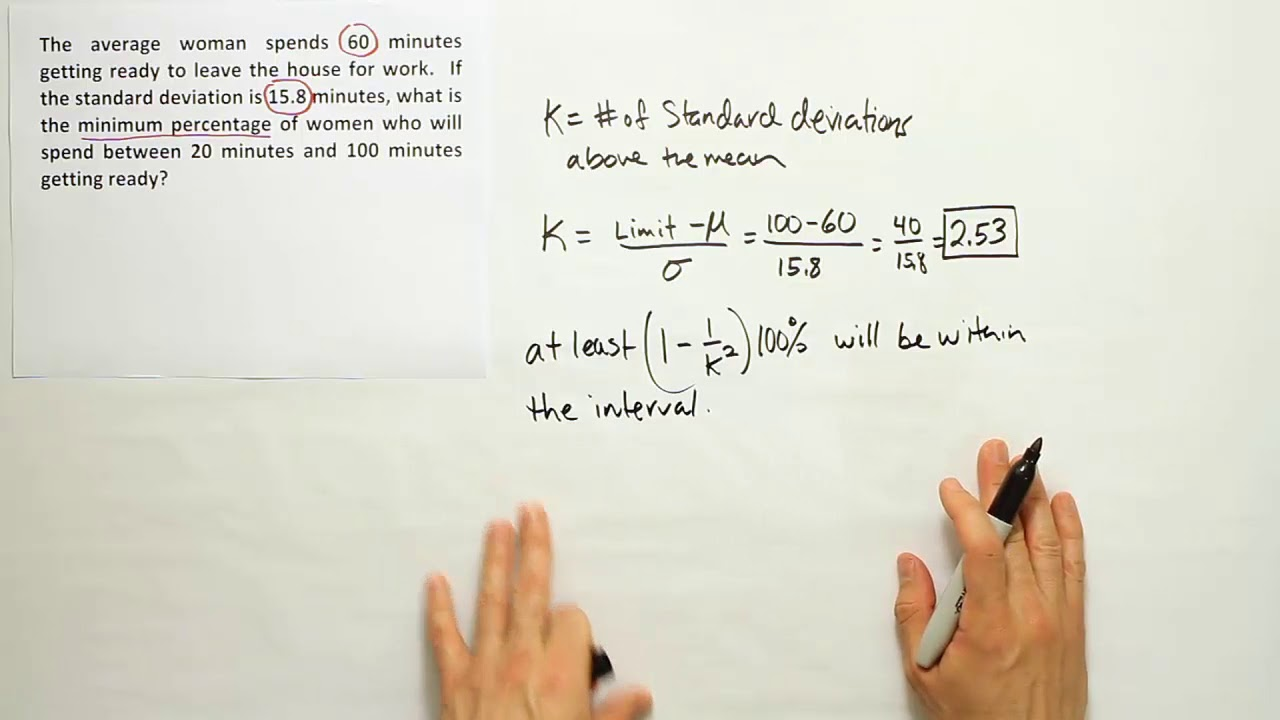 An example of using Chebyshev's theorem - YouTube