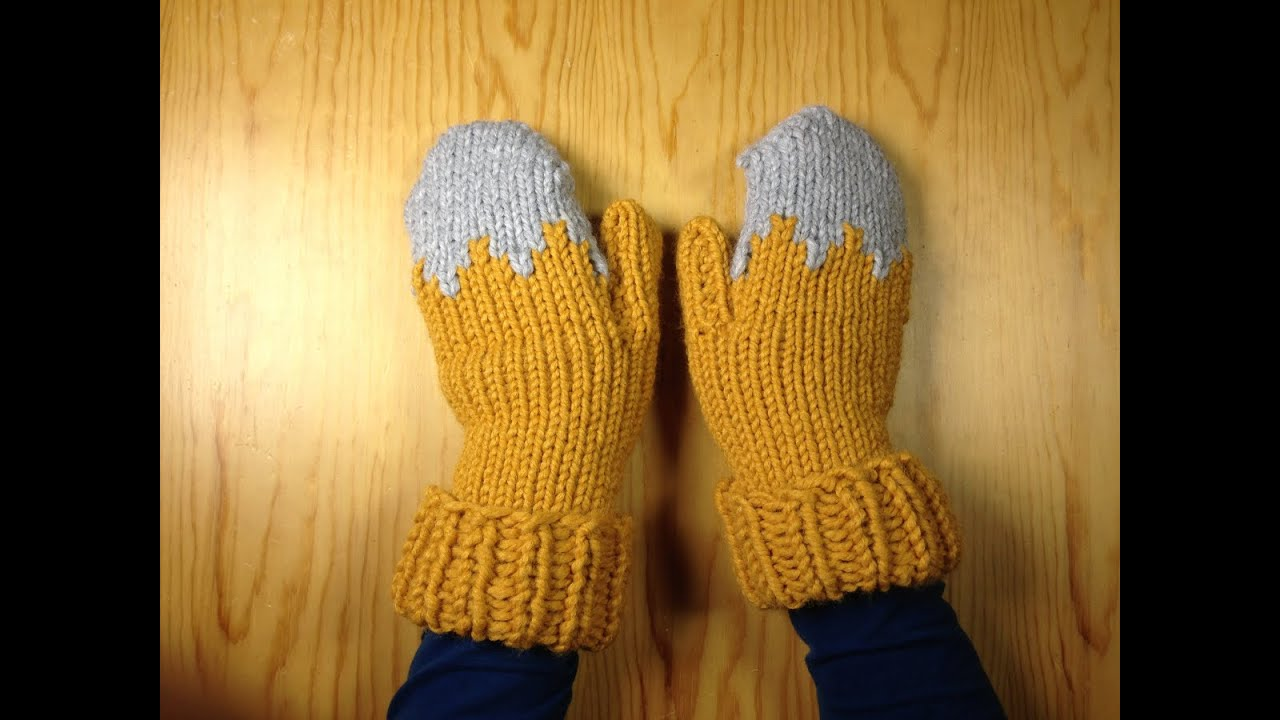 How To Loom Knit A Pair Of Gloves Mittens Diy Tutorial Youtube