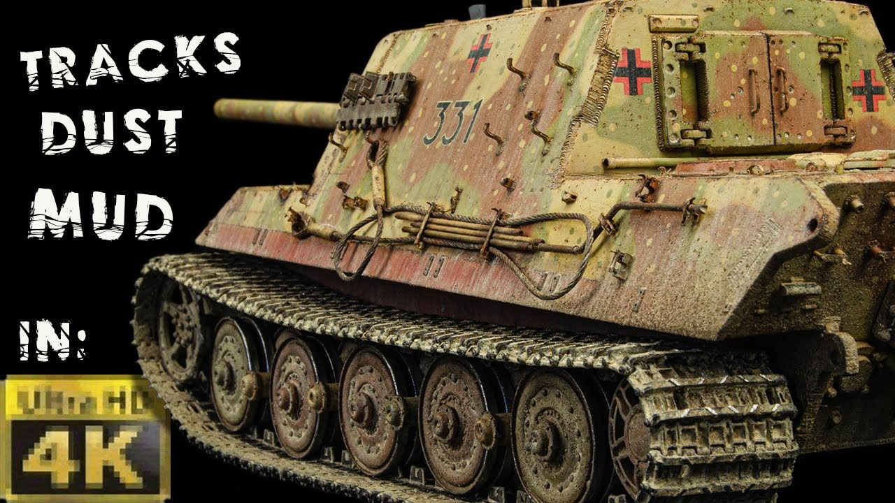 Dust & Mud Weathering in 4K! Jagdtiger 331   Takom 1/35