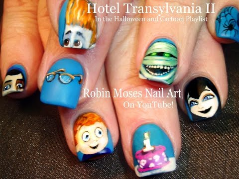 Hotel Transylvania Nails | DIY Halloween Nail Art Design Tutorial!