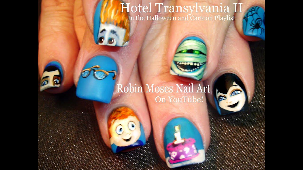 Hotel Transylvania Nails | DIY Halloween Nail Art Design ...