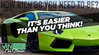 How rich should you be to buy an exotic car?