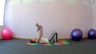 Йога для мам  с малышами. Алена Евсюкова. Видео-урок 4. Упражнения от боли в пояснице(yogarmoniya.com., 2016-10-05T07:24:03.000Z)