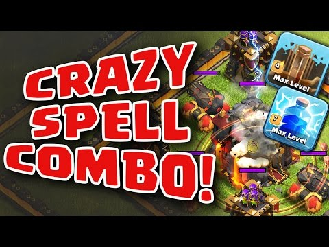 Clash of Clans | DESTROY MAX TH10 with LIGHTNING and EARTHQUAKE SPELLS!