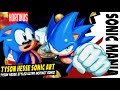 ✪ Draw TYSON HESSE Ultra Instinct Sonic | Sonic Mania | Pixel Art ✪