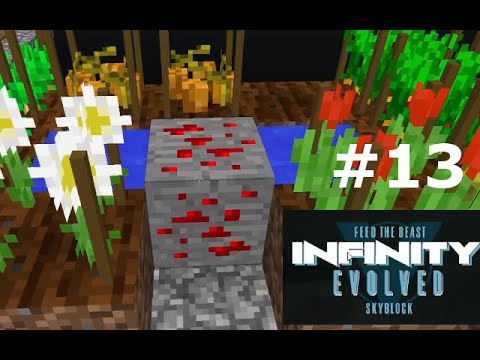 Infinity Evolved Skyblock S1 E13 - Redstone Ore and Induction furnace