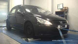Peugeot 307 2.0 hdi 90cv Reprogrammation Moteur @ 108cv Digiservices Paris 77 Dyno