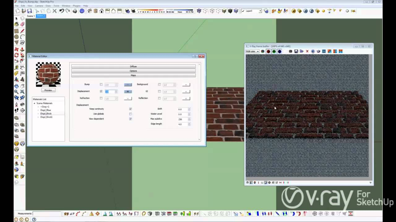 bump image v ray for sketchup bump and displacement tutorial 8196