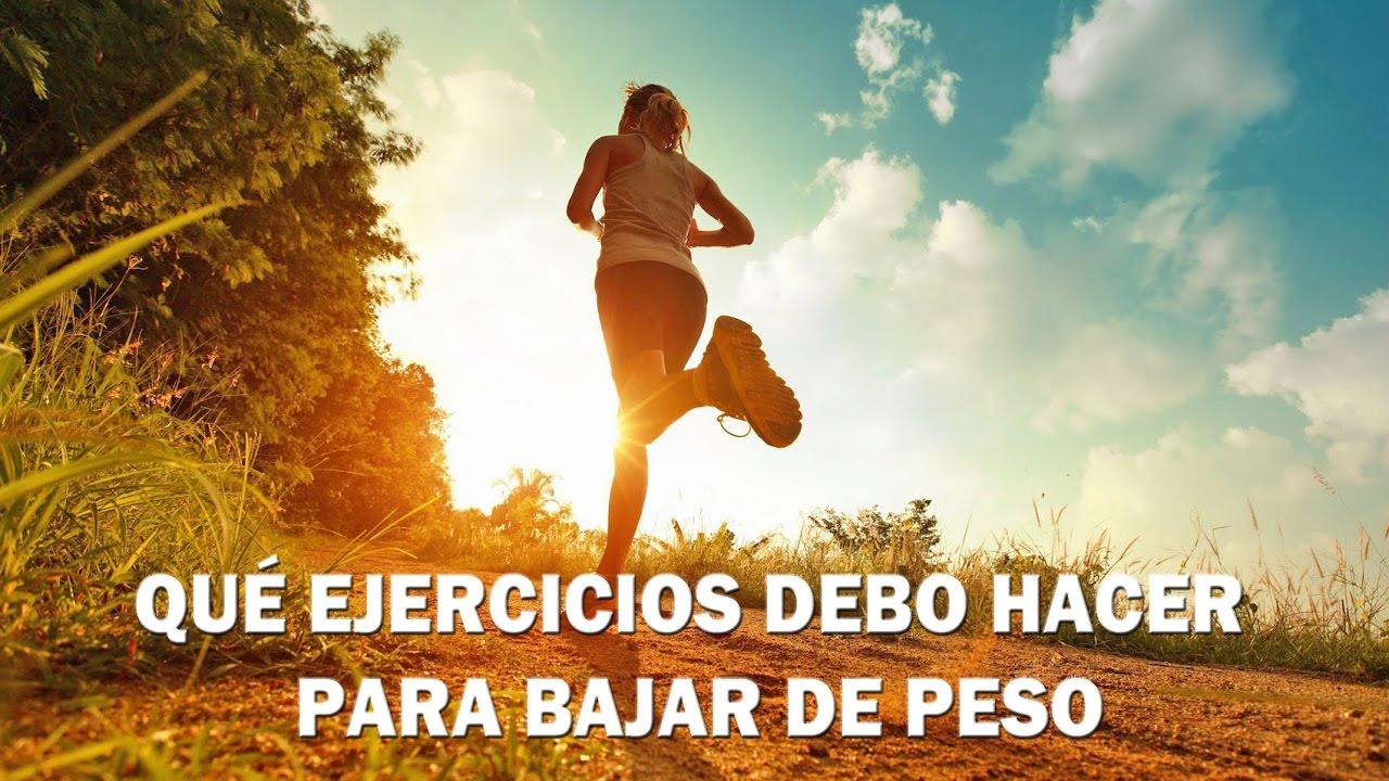 Que ejercicios diarios debo hacer para bajar de peso