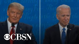 Trump and Biden on what they would tell someone who didn't vote for them